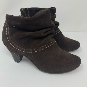 Pikolinos Pull On Suede Ankle Booties EU 39